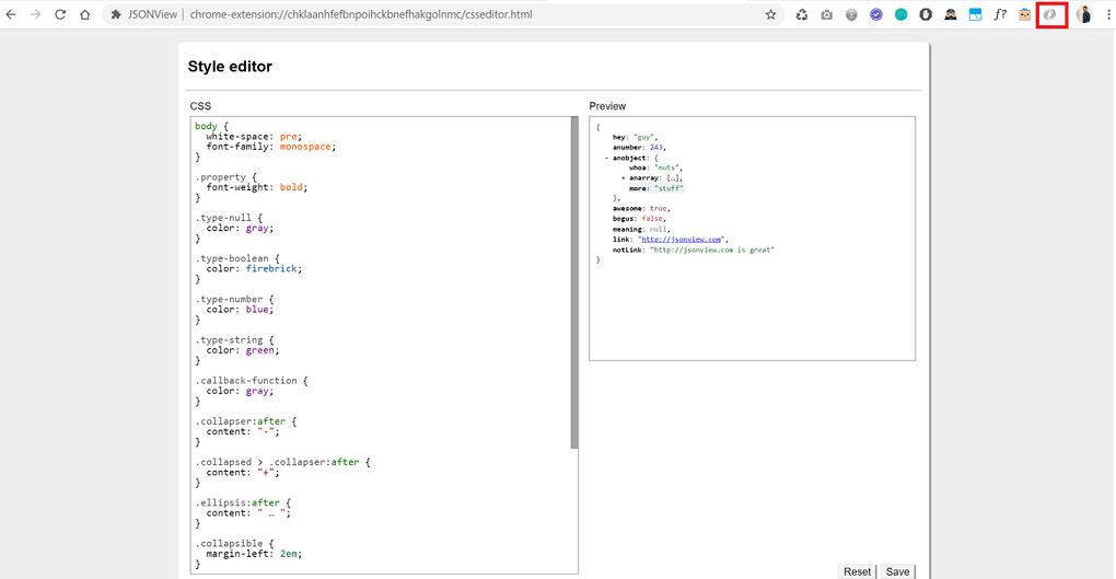 JSONView validator