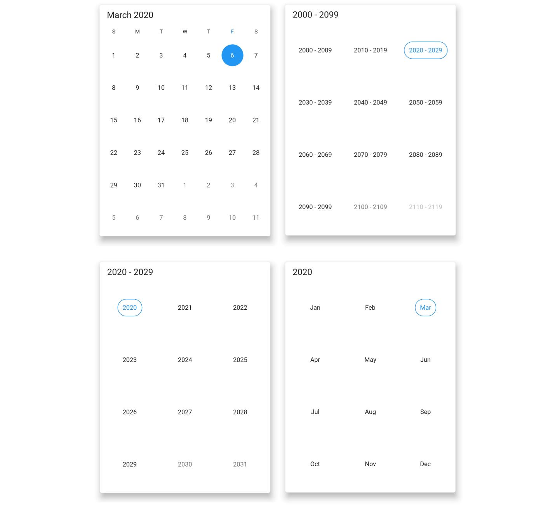 Multiple calendar view modes