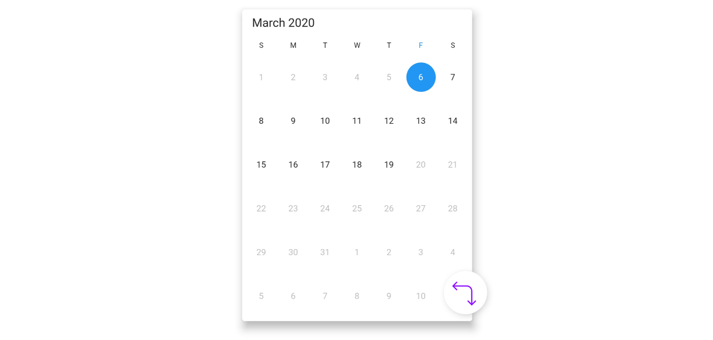 Limit the date selection range