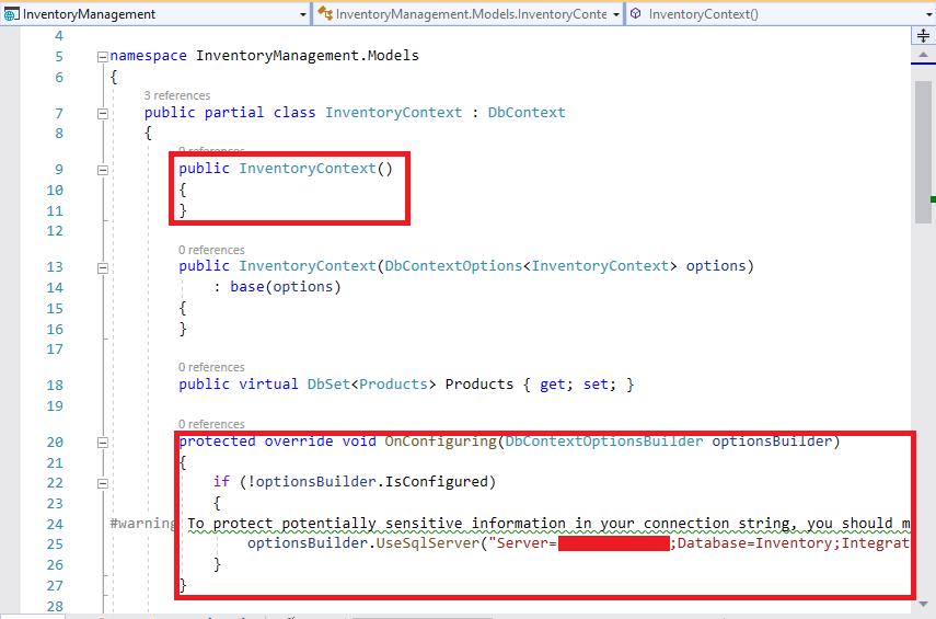 OnConfiguring method