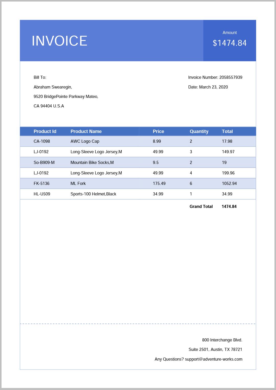 Complete PDF Invoice