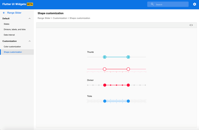 Range Slider web demo