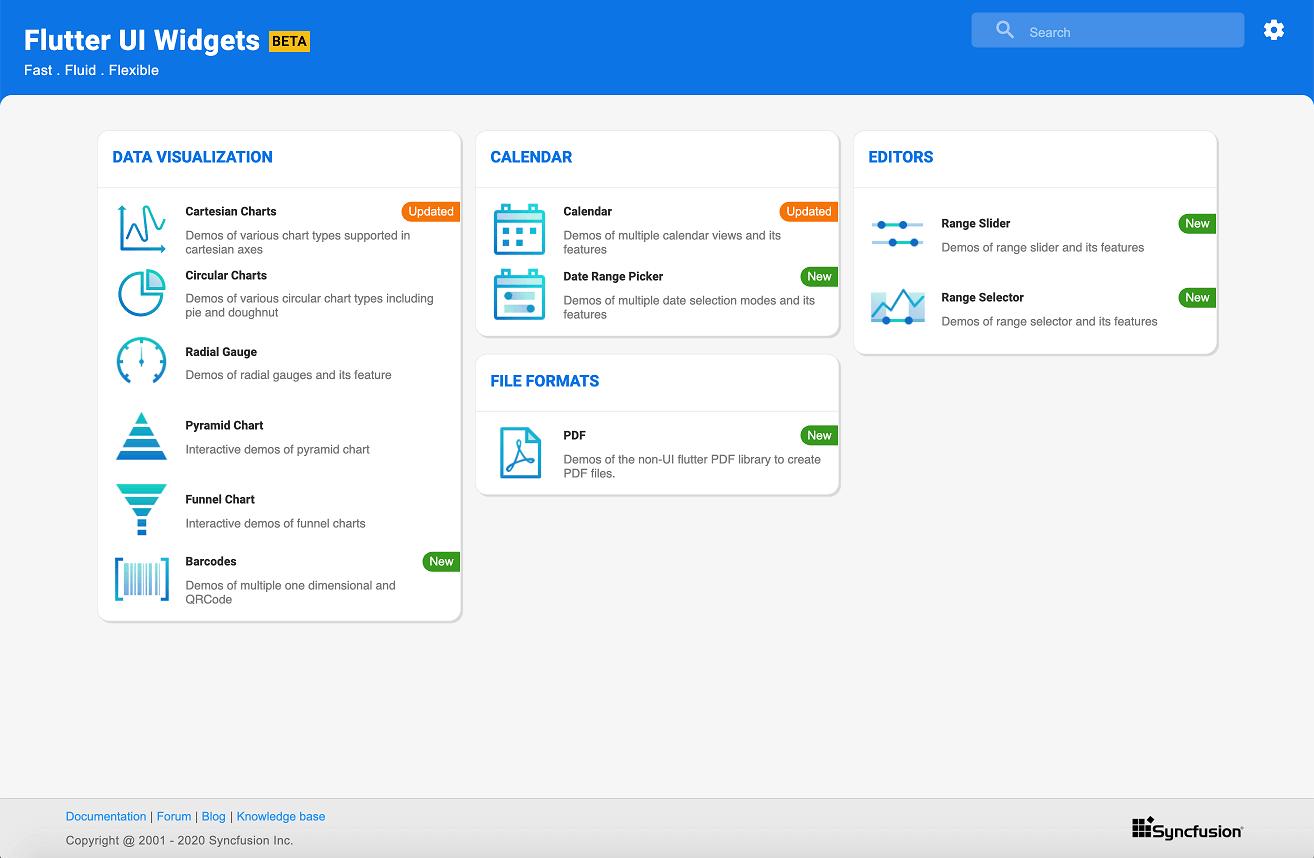 Web demo home page