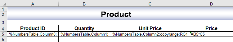 Input template with markers to import data with images using template markers