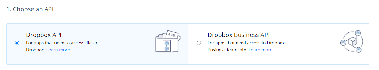 Choose-Dropbox-API