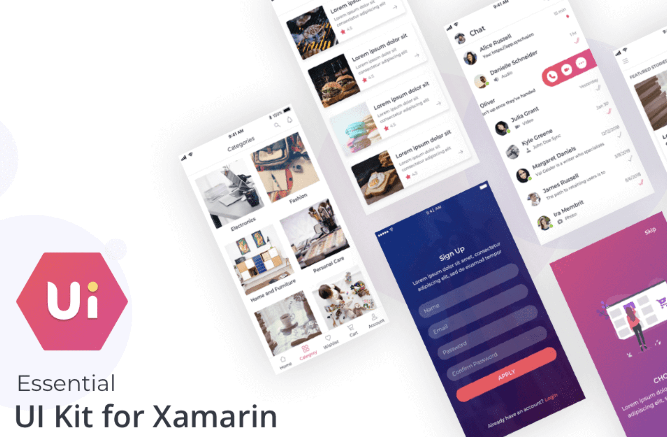Essential UI kit for Xamarin