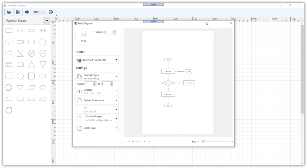 Print Diagram dialog box