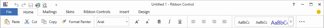 Simplified Ribbon control