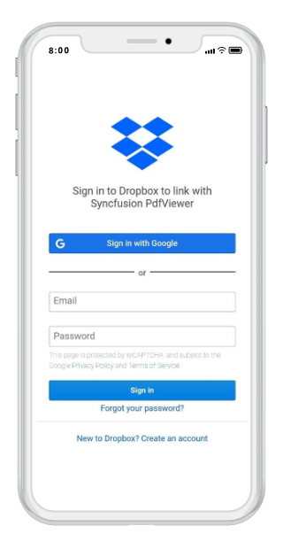 drop box in Xamarin