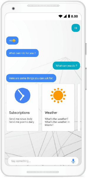 Card messages in Xamarin chat