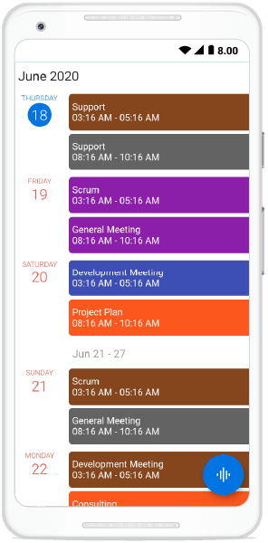 Day Header Customization in Schedule View