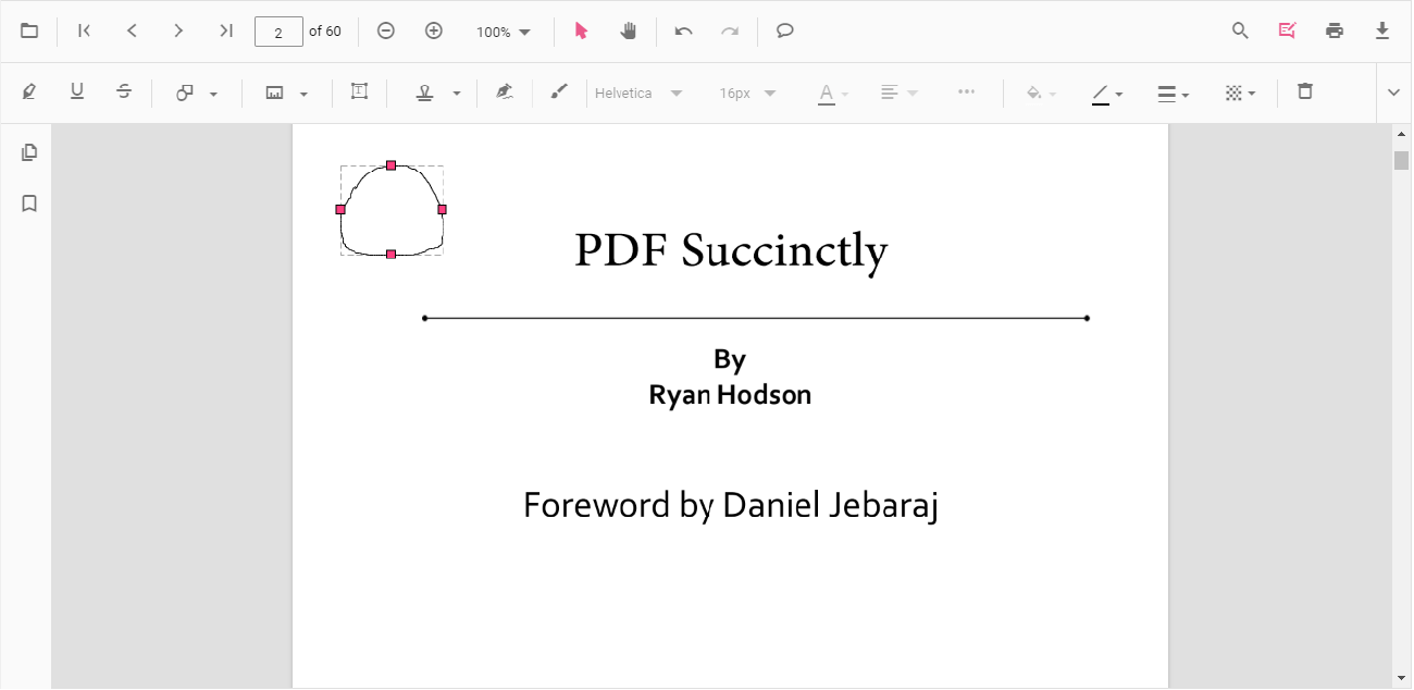Ink Annotation in PDF Viewer
