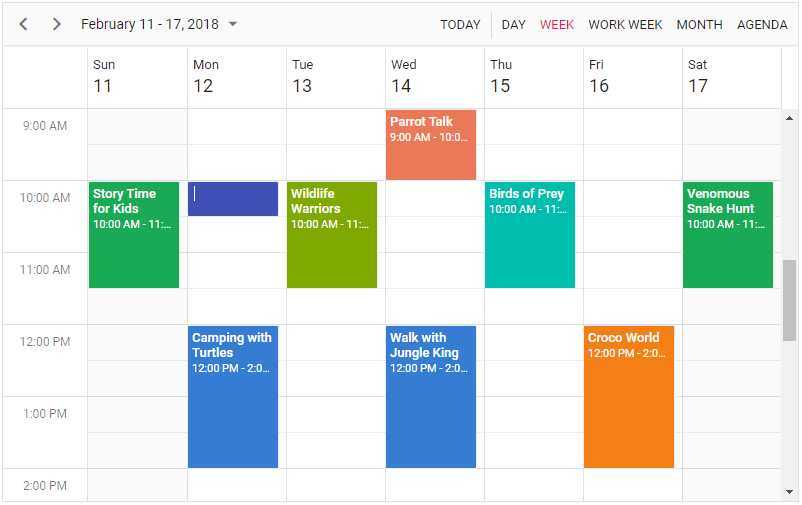 Inline Editing in Schedule View