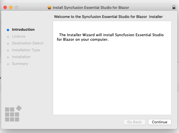 Mac Installer for Syncfusion Blazor