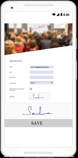 PDF document with signature captured using Xamarin.Forms Signature Pad