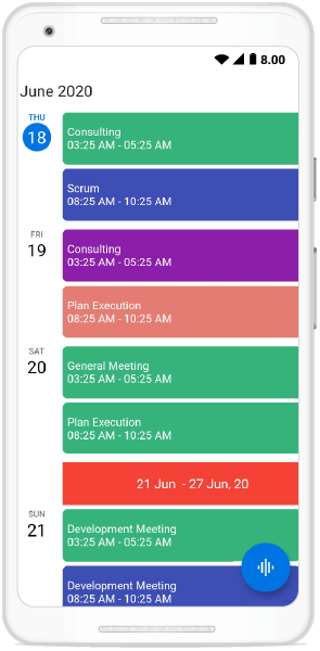 Week Header Customization in Schedule View