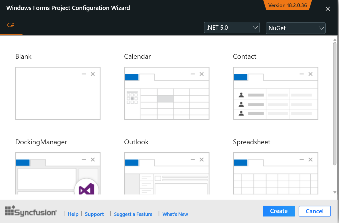 WinForms Project Configuration Wizard