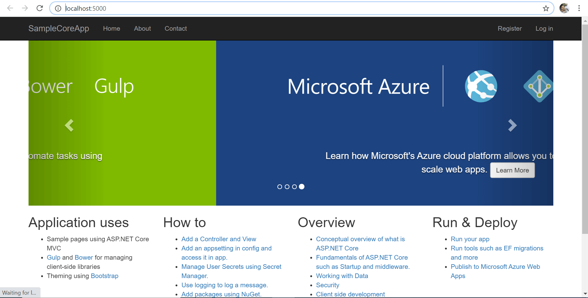 ASP .NET Core app launched in browser window without Visual Studio