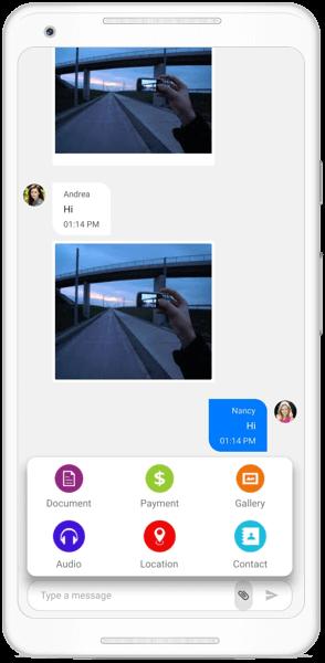 Media attachment button in Xamarin Chat
