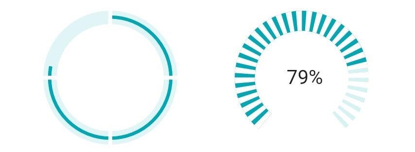 Segmented Circular Progress Bar Styles