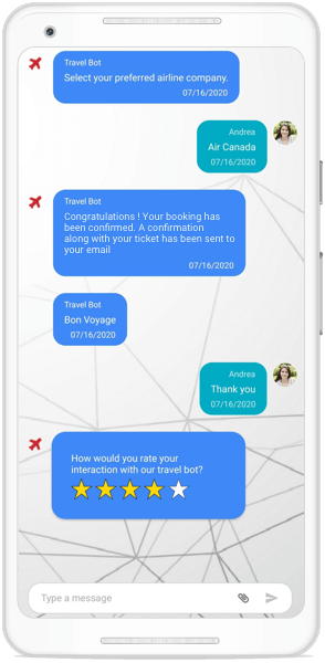 Template support for messages in Xamarin Chat