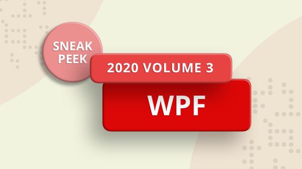 2020 volume 3 WPF