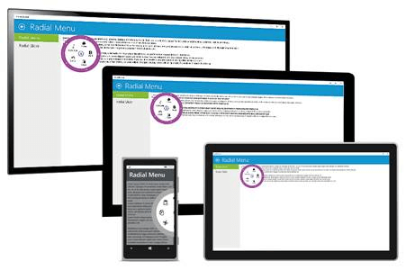 Appearance of the Radial Menu on Universal Windows-Based Devices