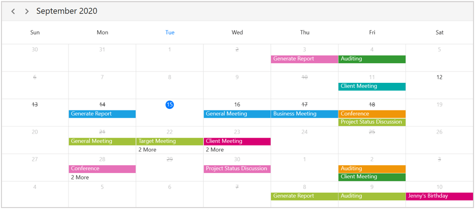 Disabled date in WPF Scheduler
