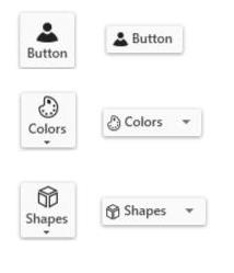 Icon template in Button controls