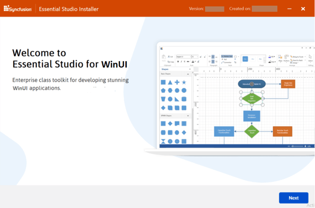 Online Essential Studio for WinUI installer