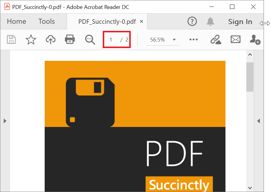 PDF Split into New Two-Page Document