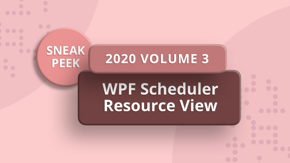 Sneak Peek at Resource View in WPF Scheduler