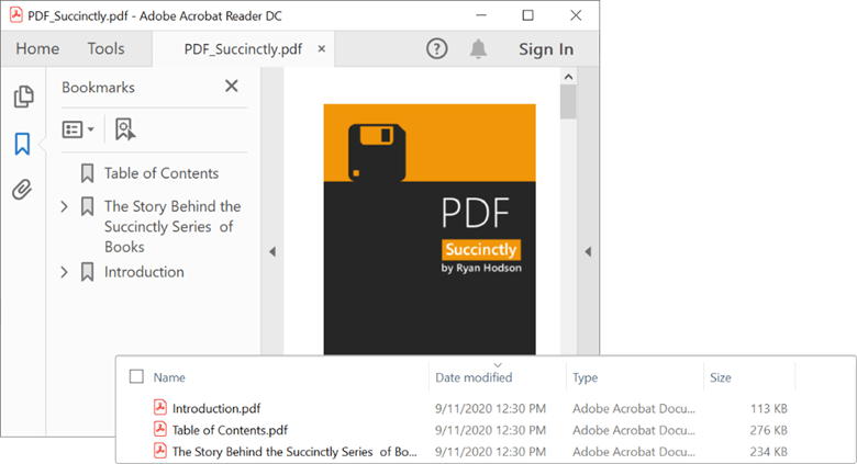 Splitting a PDF document based on PDF bookmarks