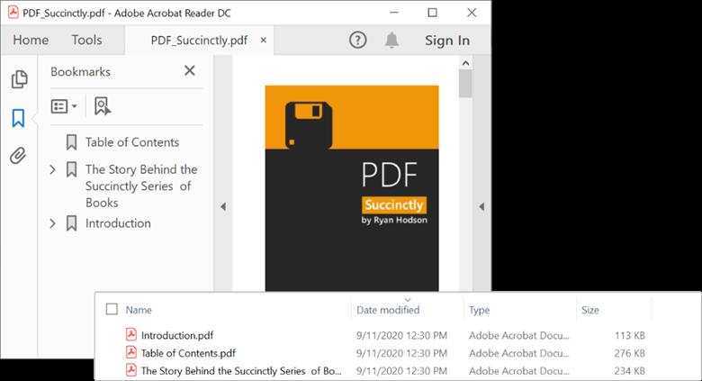 Splitting a PDF document based on PDF bookmarks