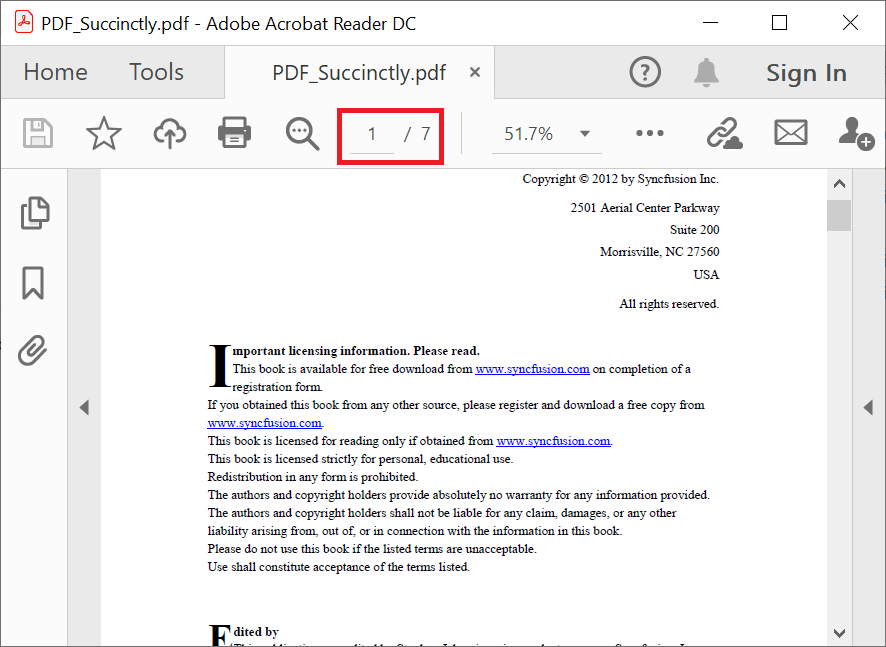 Splitting a range of pages into a separate PDF