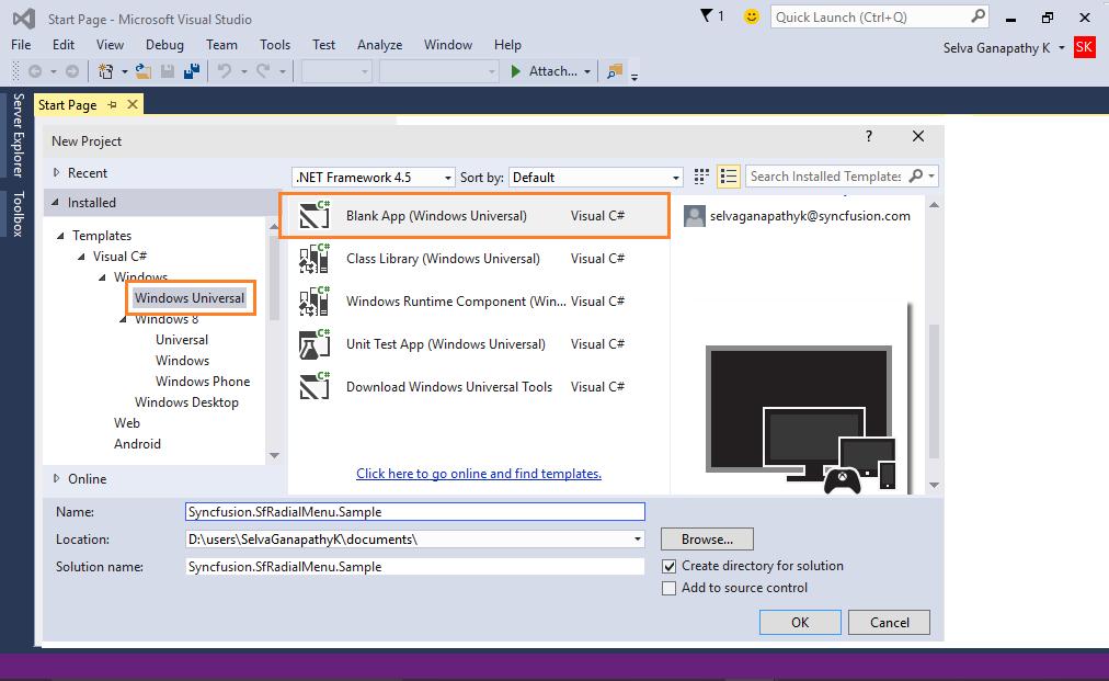 Universal Windows Templates