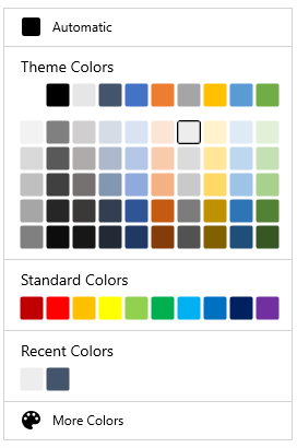 WinUI ColorPalette and DropDownColorPalette