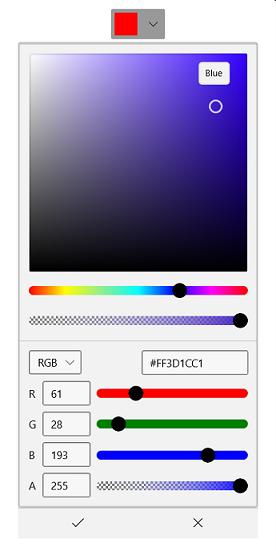 WinUI ColorPicker and DropDownColorPicker