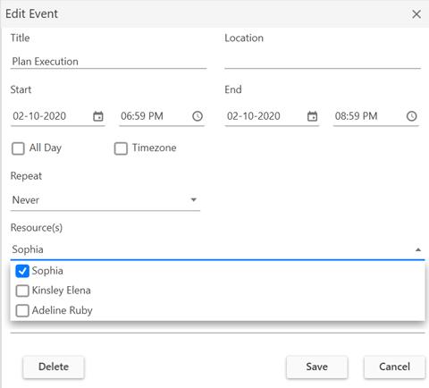 Built-in Editor in WPF Scheduler