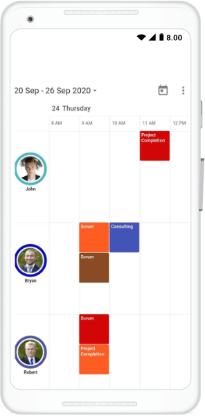 Calendar with Visible Resource Count of 3