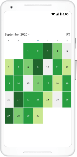 Custom view for the month cell builder