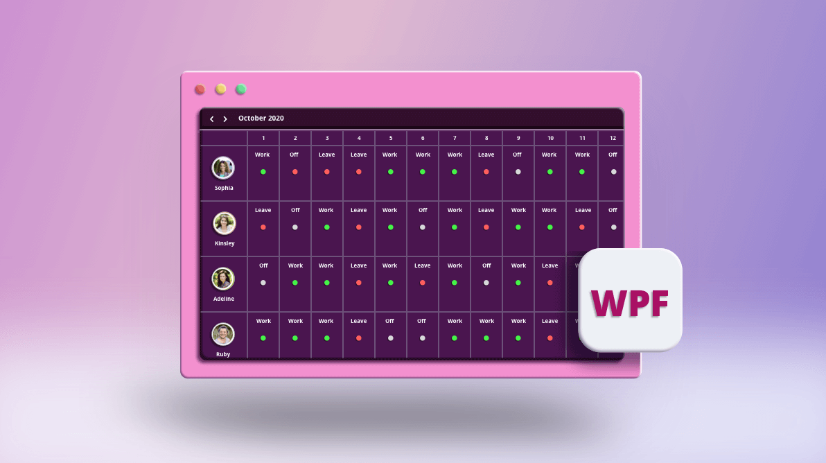 How to Create a Roster Scheduler View in Less Than 20 Minutes in WPF