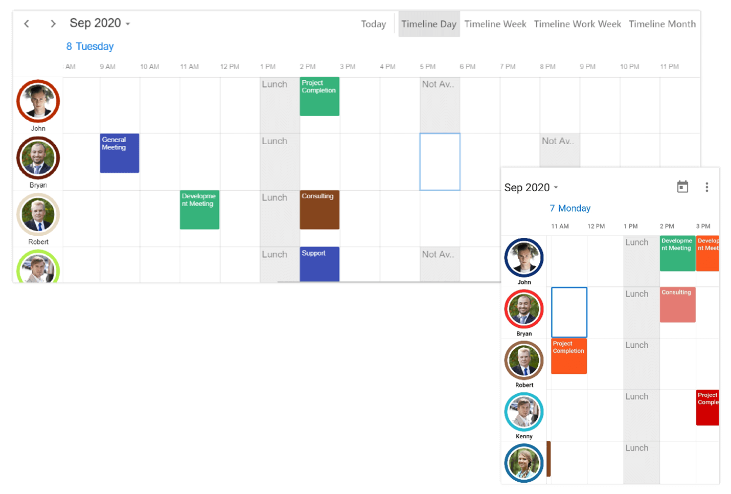 Timeline Resource Grouping Feature in Flutter Event Calendar