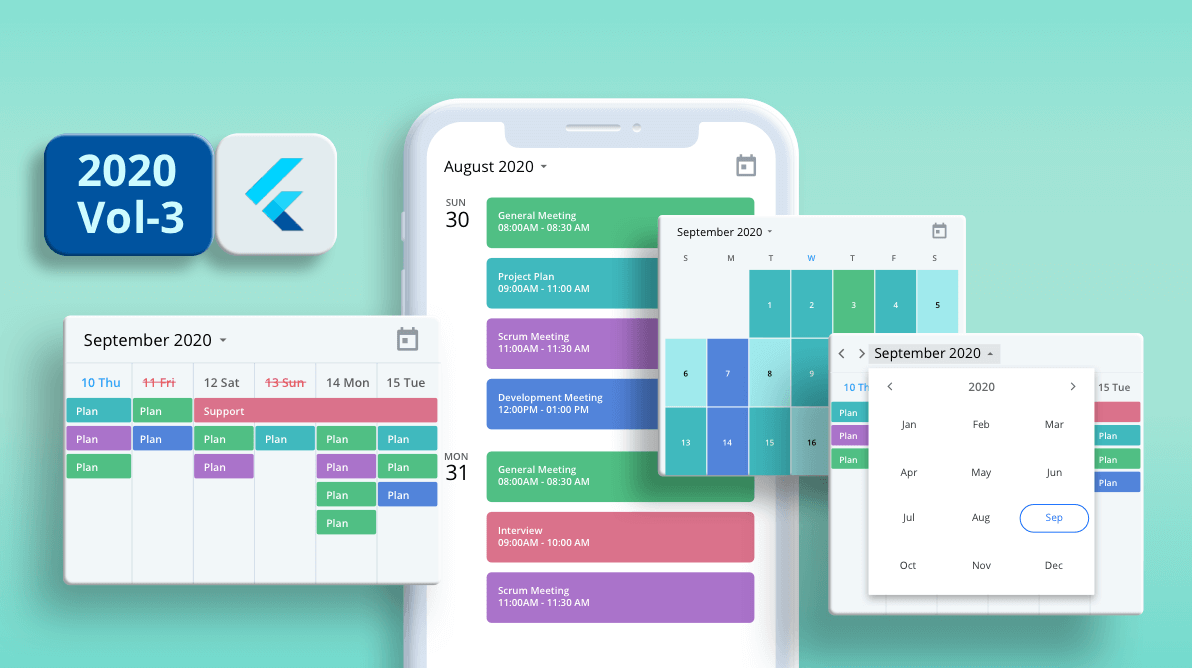 What's New in 2020 Volume 3: Flutter Event Calendar