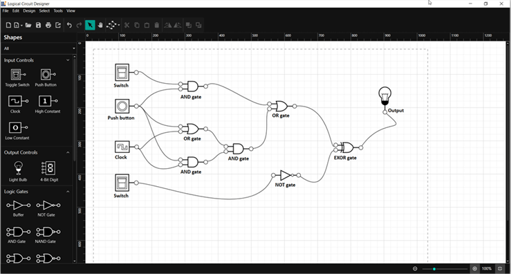 Building Digital Logic Circuits with WPF Diagram Control