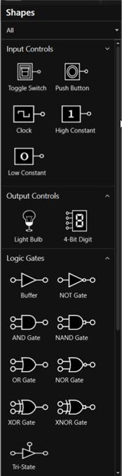 Collection of logic circuit diagram symbols