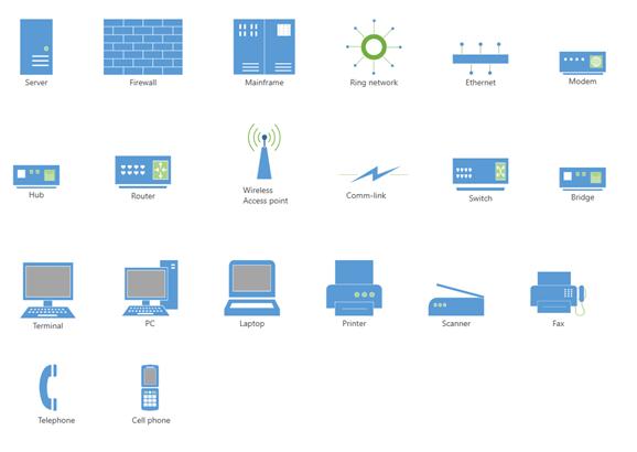 Common Network Diagram Symbols