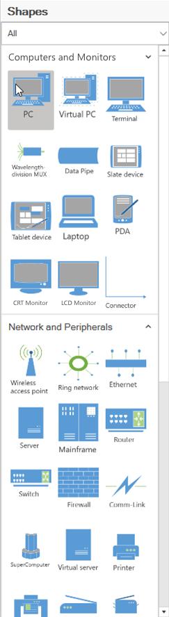 Network Diagram Symbol Stencil