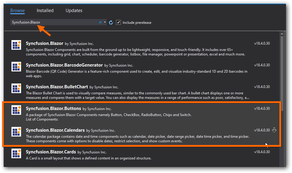 Install the NuGet packages