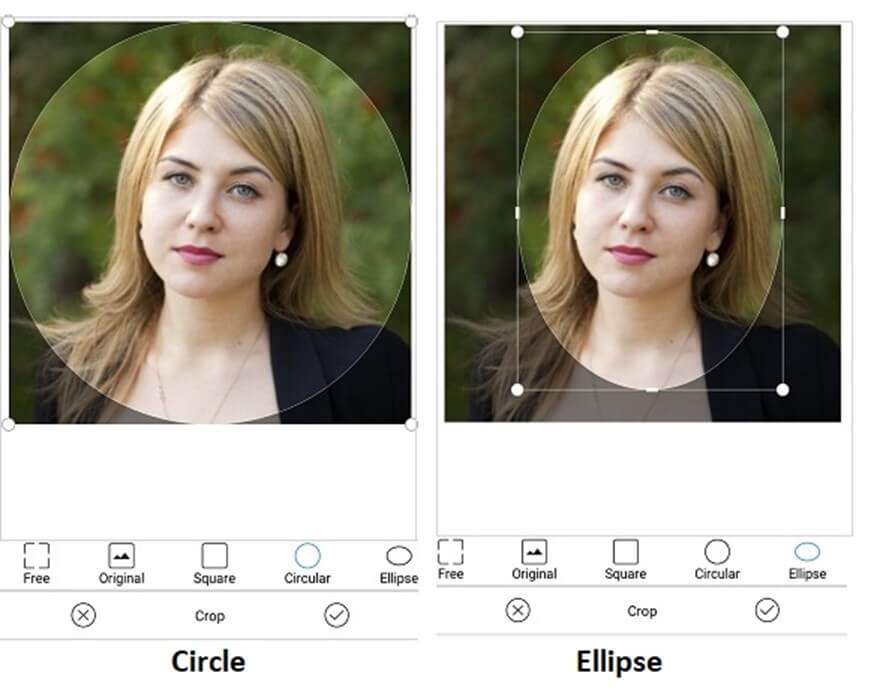 Circular cropping support in Xamarin Image Editor